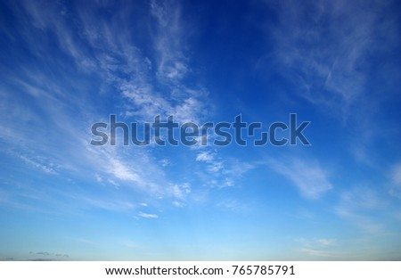 blue sky and white clouds - Shutterstock ID 765785791