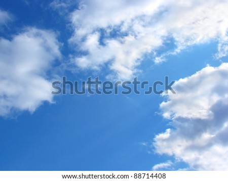 Blue sky and white clouds. Background - stock photo