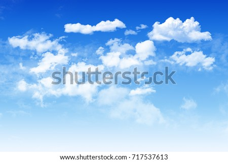 Shutterstock Blue sky and  white cloudy