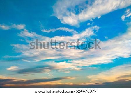 Blue sky at sunset - Shutterstock ID 624478079