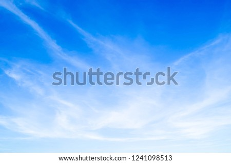 Blue sky background and beautiful clouds. #1241098513