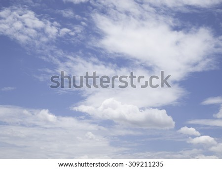 Blue sky background and clouds #309211235