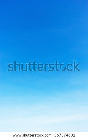 Blue sky background and empty space.