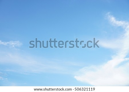 Blue sky background and texture - Shutterstock ID 506321119