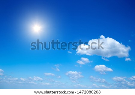 Blue sky background with a tiny clouds #1472080208