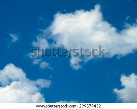 blue sky background  with cloud ,  smooth  soft background