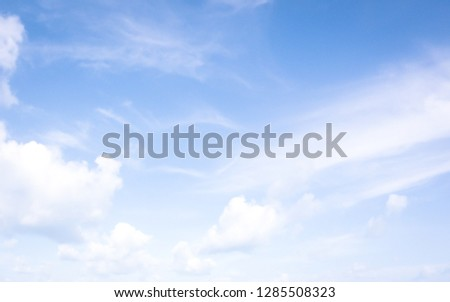 Blue sky background with clouds #1285508323
