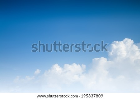 blue sky background with clouds #195837809