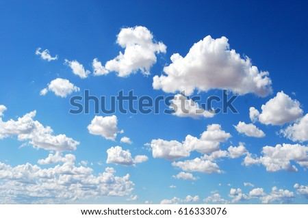 Blue sky background with clouds #616333076
