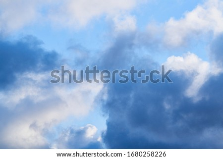 blue sky background with tiny clouds Stockfoto ©