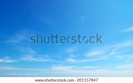 Shutterstock Blue sky background with tiny clouds