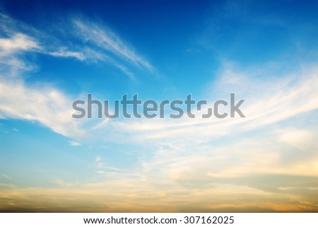 blue sky background with tiny clouds #307162025
