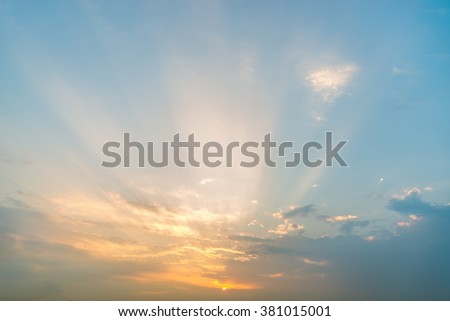 blue sky background with tiny clouds #381015001