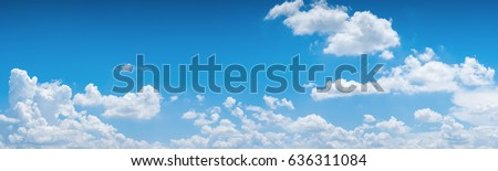 blue sky background with tiny clouds. panorama #636311084