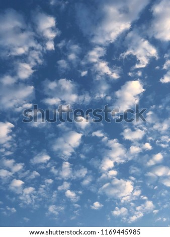 blue sky background with tiny clouds. vertical - Shutterstock ID 1169445985