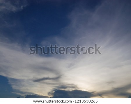 Blue sky background with white clouds #1213530265