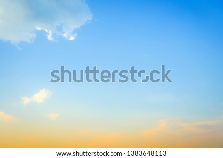 blue sky background with white clouds #1383648113