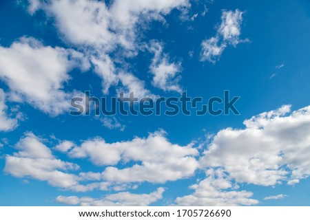 blue sky background with white clouds Stockfoto ©