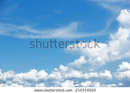 Blue sky background with white clouds #254314060
