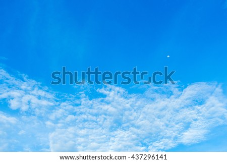 blue sky background with white clouds #437296141