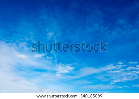 blue sky background with white clouds #540185089