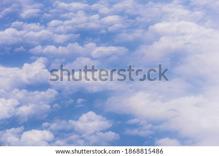 Blue sky background with white clouds on sunny day. ストックフォト ©
