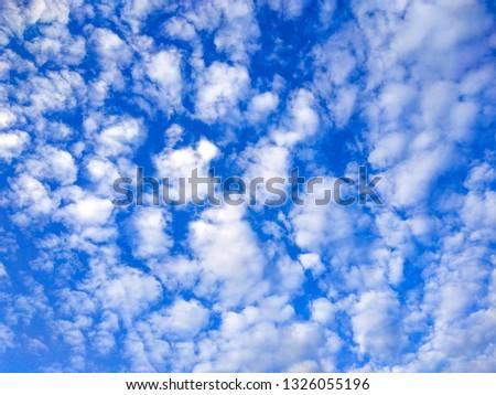 Blue sky, blue sky background, blue sky concept, the clouds