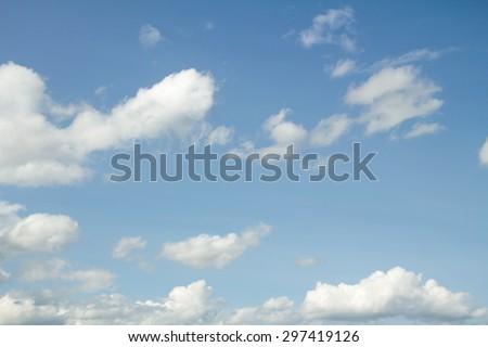 blue sky clouds #297419126