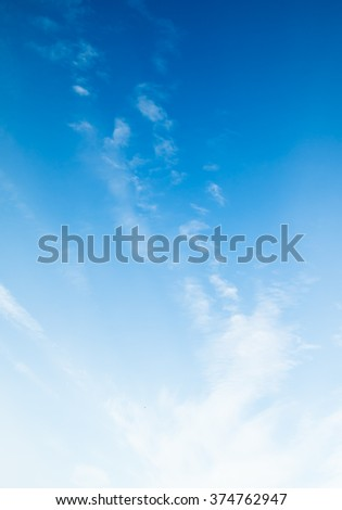 blue sky clouds - Shutterstock ID 374762947