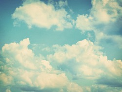 Blue sky, clouds and sun light background