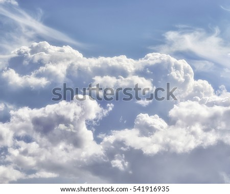 blue sky covered with clouds and cloud. tone contrast. background #541916935