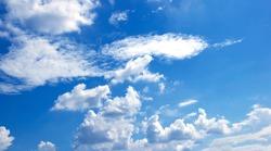 blue sky High angle air background