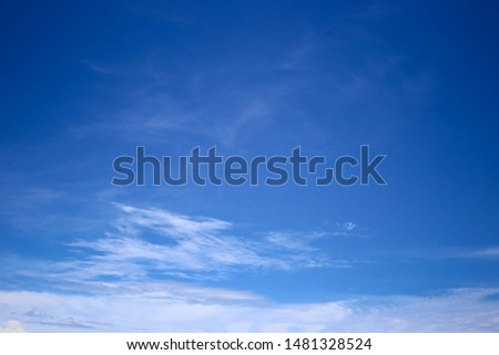 Blue sky in the evening