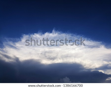 blue sky in the evening.dramatic evening sky background. #1386166700