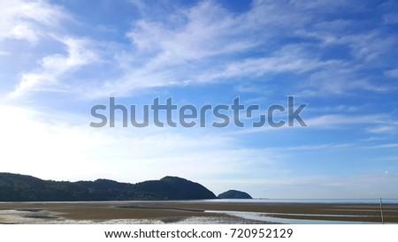 blue sky landscape background #720952129