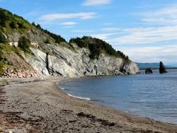 Blue Sky Northern Coastal Landscape