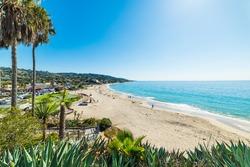 Blue sky over Laguna Beach, California