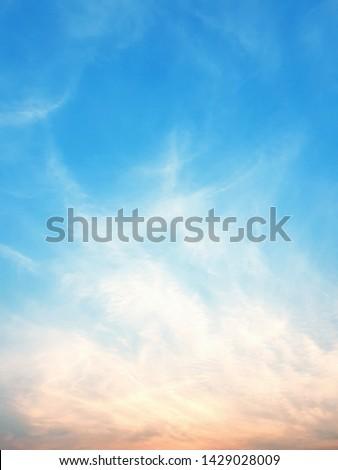 Blue sky. Sky with clouds #1429028009