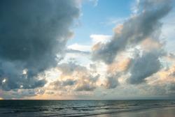 Blue sky sunset ocean landscape - Image