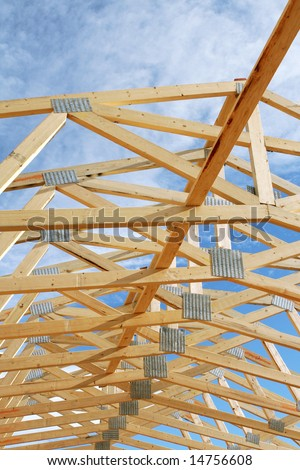Blue Sky Through Trusses
