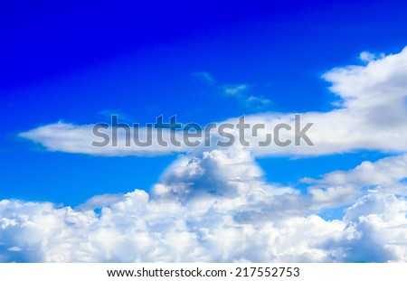 Blue Sky, View on nice sky with clouds daylight, Cloudy Sky background Before Rain - Thailand