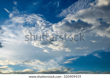 blue sky,White and blue sky,Beautiful Blue Sky On a rainy day in thailand