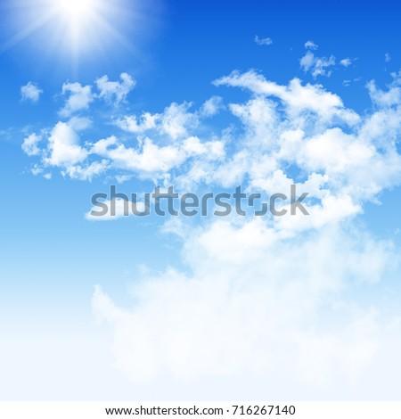 blue sky white cloudy