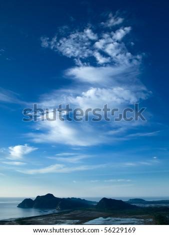 Blue Sky White Dragon Clouds