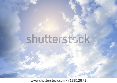 Blue sky with beautiful clouds. - Shutterstock ID 718812871