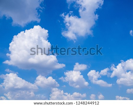 blue sky with big cloud for background with space for text #1248244912