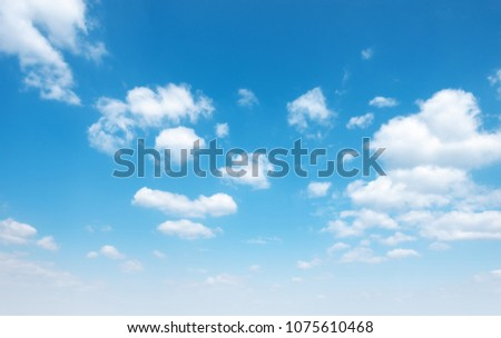 blue sky with cloud #1075610468