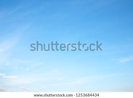 blue sky with cloud #1253684434