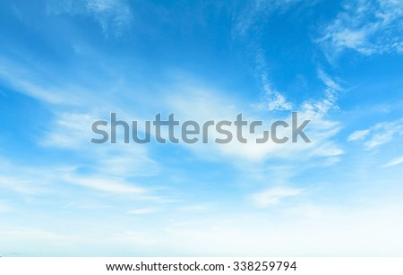 blue sky with cloud - Shutterstock ID 338259794