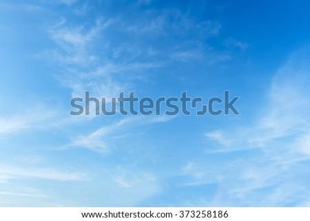 Blue sky with cloud #373258186